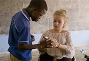 Steffi und ein junger Ghanaer